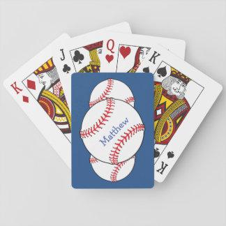 Naipes patrióticos del béisbol barajas de cartas