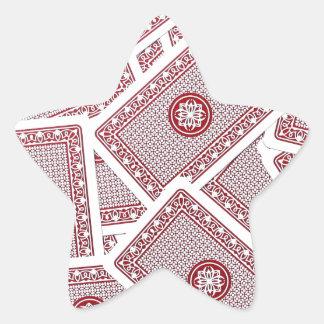 Naipes Pegatina En Forma De Estrella
