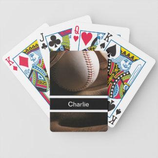 Naipes personalizados béisbol cartas de juego