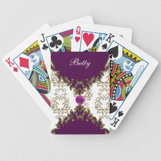 Naipes personalizados damasco barajas de cartas
