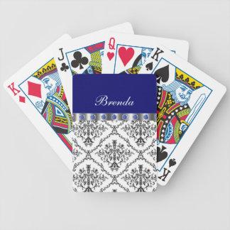 Naipes personalizados damasco cartas de juego