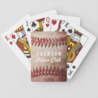 Naipes personalizados de la baraja de béisbol el   barajas de cartas