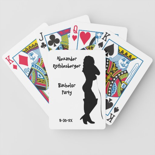 Naipes personalizados de la despedida de soltero baraja cartas de poker