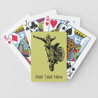 Naipes personalizados de la motocicleta baraja cartas de poker