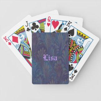 Naipes personalizados de la pluma del pavo real barajas de cartas