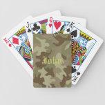Naipes personalizados del camuflaje cartas de juego