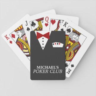 Naipes personalizados del club del póker barajas de cartas