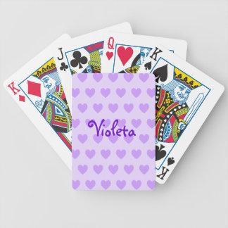 Naipes personalizados del modelo del corazón cartas de juego