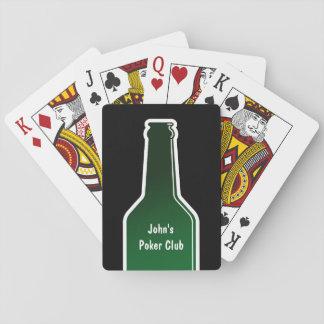 Naipes personalizados del póker con la botella de