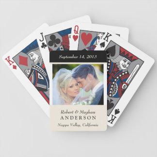 Naipes personalizados favor de la foto del boda baraja cartas de poker