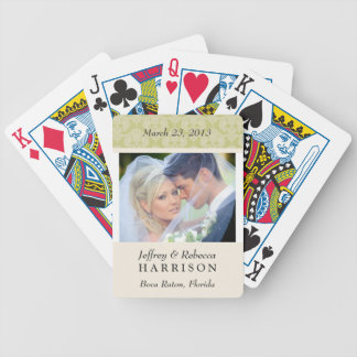 Naipes personalizados foto del boda baraja cartas de poker