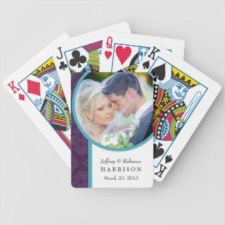 Naipes personalizados foto del boda baraja de cartas