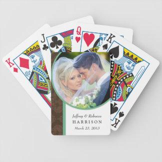 Naipes personalizados foto del boda cartas de juego
