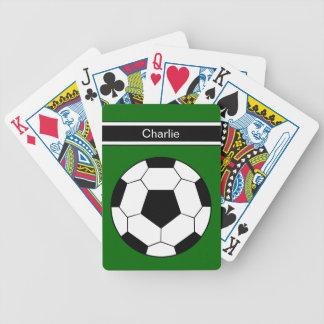 Naipes personalizados fútbol cartas de juego
