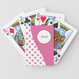 Naipes personalizados monograma baraja cartas de poker