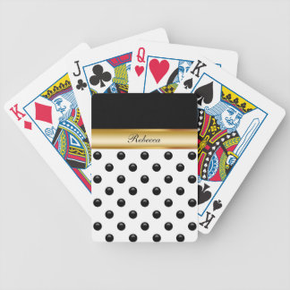 Naipes personalizados monograma barajas de cartas