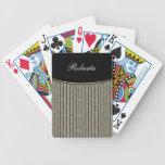 Naipes personalizados monograma cartas de juego