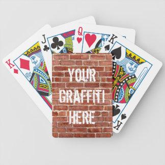 Naipes personalizados pared de ladrillo de la pint baraja de cartas