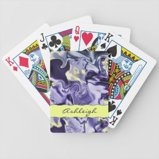 Naipes personalizados satén de la lavanda baraja de cartas