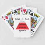 Naipes polacos de la pirámide de alimentación cartas de juego