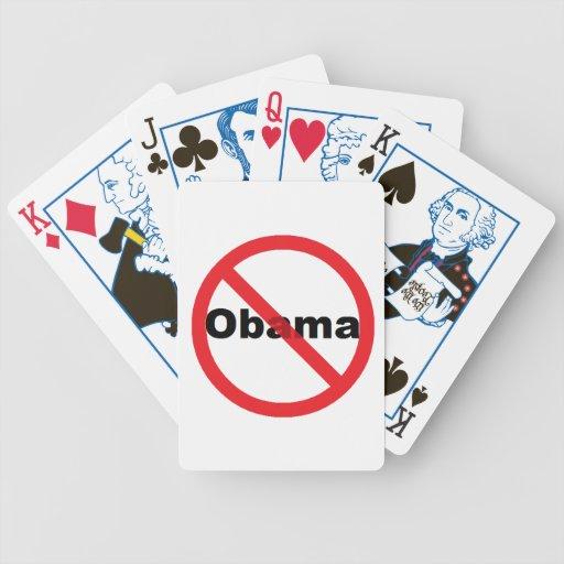 Naipes políticos antis de Obama Barajas De Cartas