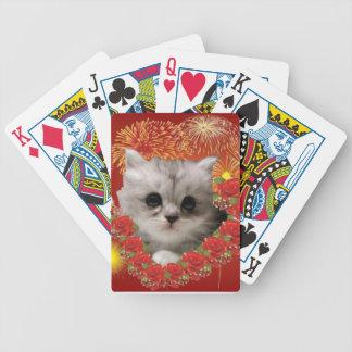 Naipes preciosos del gatito baraja cartas de poker
