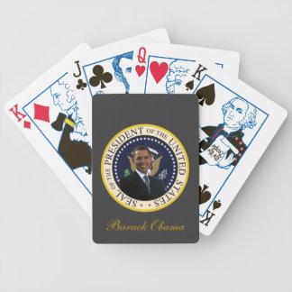 Naipes presidenciales del sello de Barack Obama Cartas De Juego