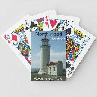 Naipes principales del norte del faro baraja de cartas