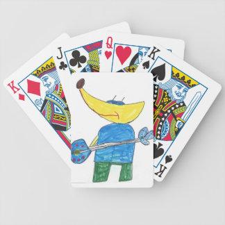 Naipes principales del plátano cartas de juego