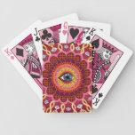 Naipes psicodélicos de la mandala cósmica del ojo barajas de cartas
