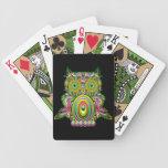 Naipes psicodélicos de Popart del búho Baraja Cartas De Poker