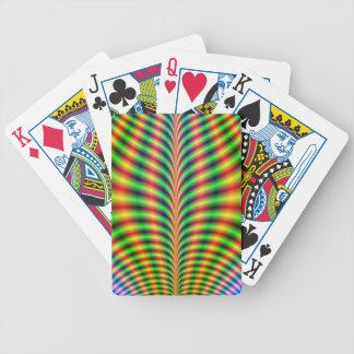 Naipes psicodélicos del peto barajas de cartas