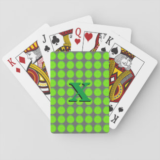 Naipes - puntos verdes con inicial