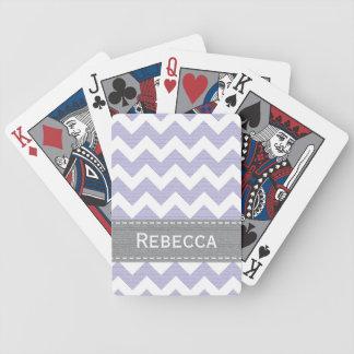 Naipes púrpuras de Chevron Bicycle® Baraja Cartas De Poker