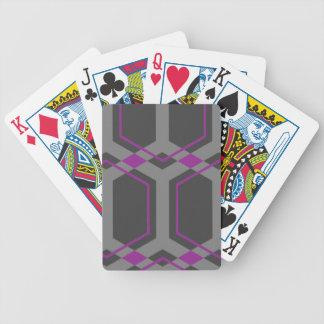Naipes (púrpuras) de Panal Cartas De Juego