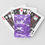 Naipes púrpuras del camuflaje barajas de cartas