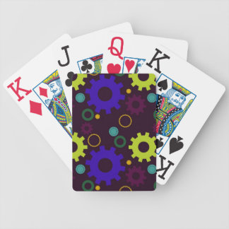 Naipes (púrpuras y verdes) de los dientes y de los barajas de cartas