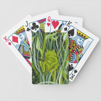 Naipes rana cartas de juego