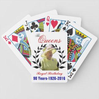 Naipes reales del cumpleaños del Queens Baraja
