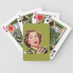 Naipes retros 1950 del ama de casa baraja cartas de poker