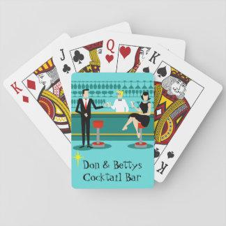 Naipes retros adaptables del salón de cóctel