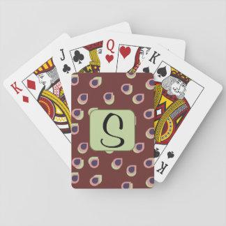 Naipes retros de la letra de descensos barajas de cartas