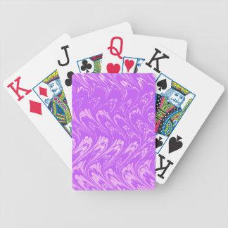 Naipes retros de la púrpura de la lavanda del vint baraja