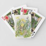 Naipes retros de los Wildflowers del vintage Baraja De Cartas