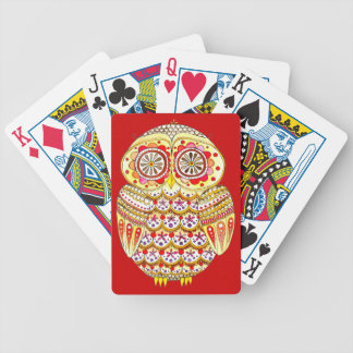 Naipes retros del búho barajas de cartas