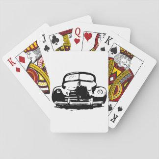 Naipes retros del coche barajas de cartas
