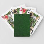 Naipes retros del verde del vintage barajas de cartas