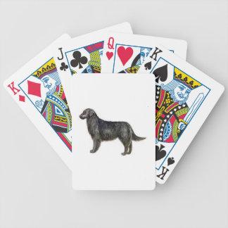 Naipes revestidos planos del perro del perro perdi baraja