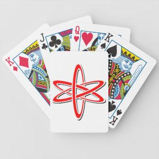 Naipes rojos atómicos baraja cartas de poker