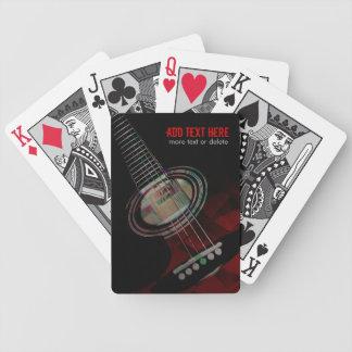 Naipes rojos de la guitarra del Grunge abstracto Cartas De Juego
